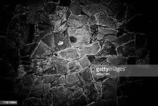Wand mit einem Stein