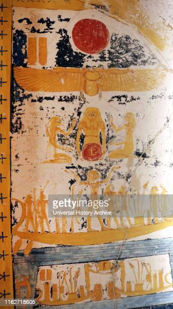Wall frieze from the tomb of Ramesses VI Tomb KV9 in Egypt's Valley of the Kings was originally constructed by Pharaoh Ramesses V He was interred...