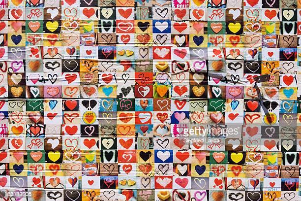 Wall full of hearts