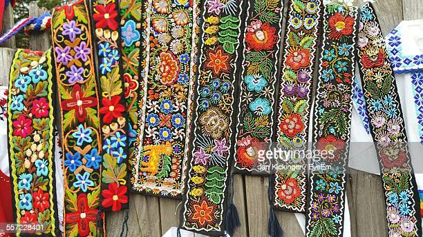 Wall Hangings At Market Stall