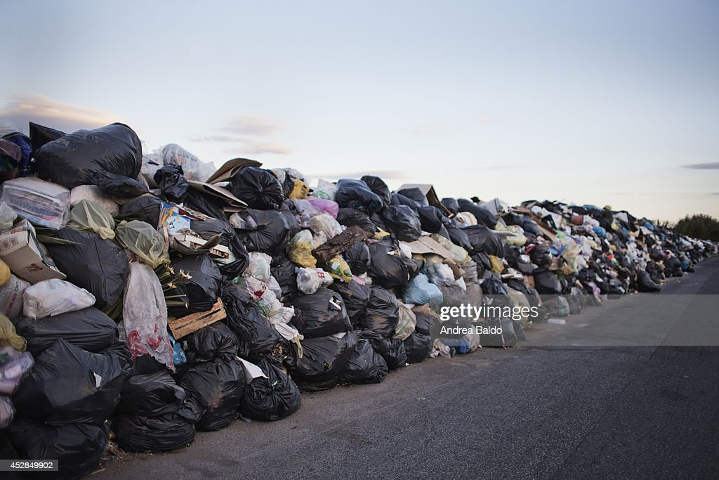 Image result for wall of garbage