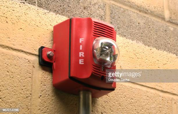 Wall mounted fire detection and alarm unit