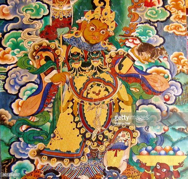 Wall mural at The Rumtek Monastery-Sikkim