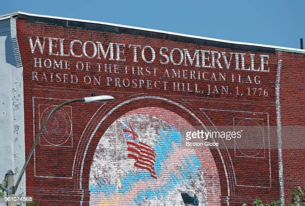 A wall mural is pictured in Union Square in Somerville MA on May 9 2018 A new federal tax break designed to boost lowincome neighborhoods could...