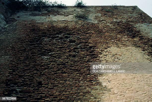Wall of a fortress in Bejaia Algeria