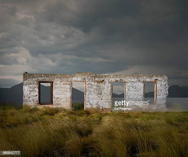 Wall of a Ruined Building in Rural Texas