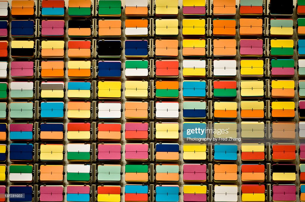 Wall of colors : Stock Photo
