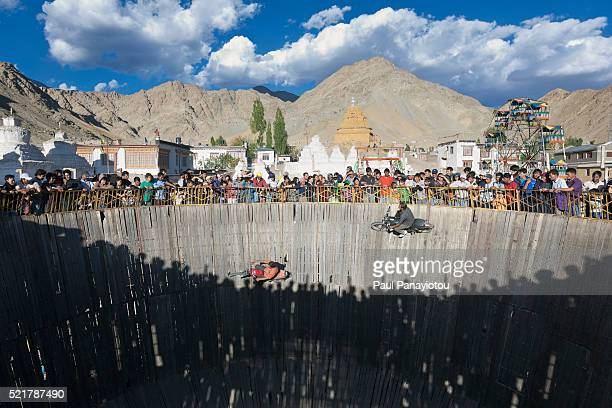 Wall of Death during the Ladakh Festival, Leh, India
