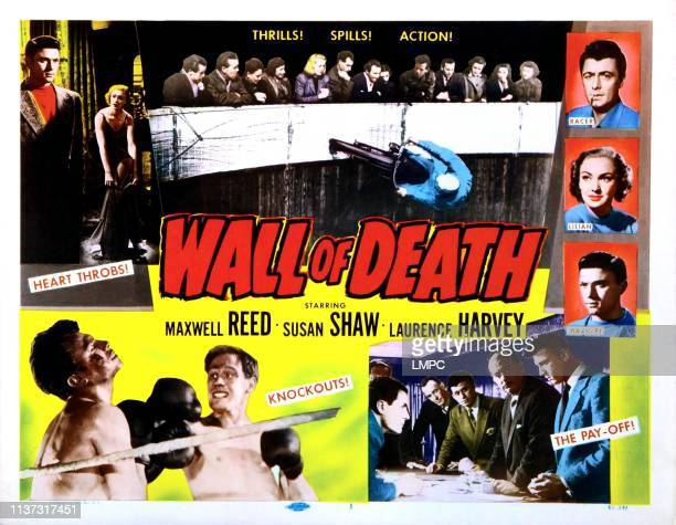 Wall Of Death poster US poster top from left Laurence Harvey Susan shaw Maxwell Reed right from top Maxwell Reed Susan Shaw Laurence Harvey 1951