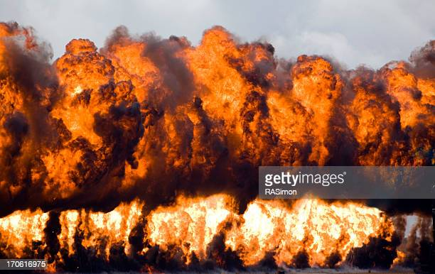 wall of fire - napalm stock photos and pictures