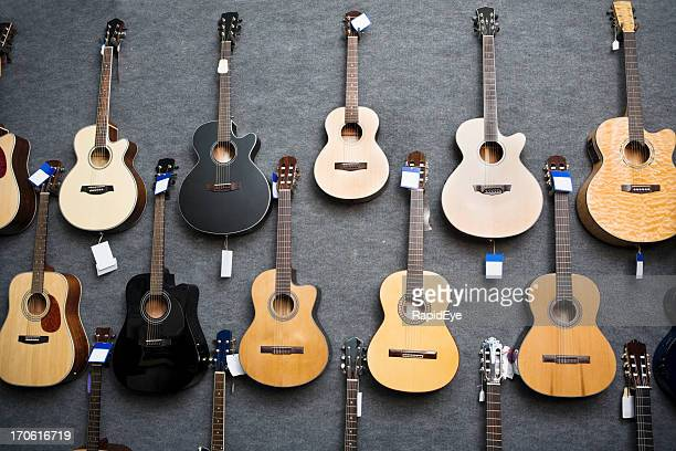 Wall of guitars
