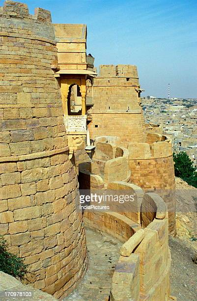 Wall of the fortress of Jaisalmer Rajasthan India