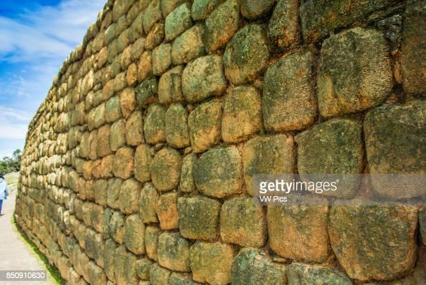 Wall of the Temple of the Sun, Inca Ruins. IngapircA Ecuador.