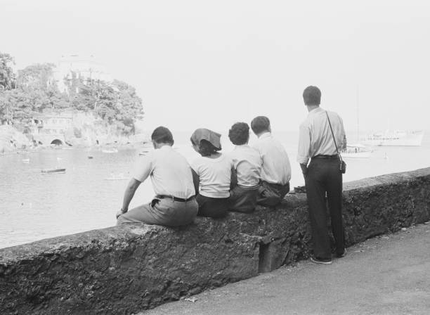 A wall overlooking Paraggi Beach, near the tourist...