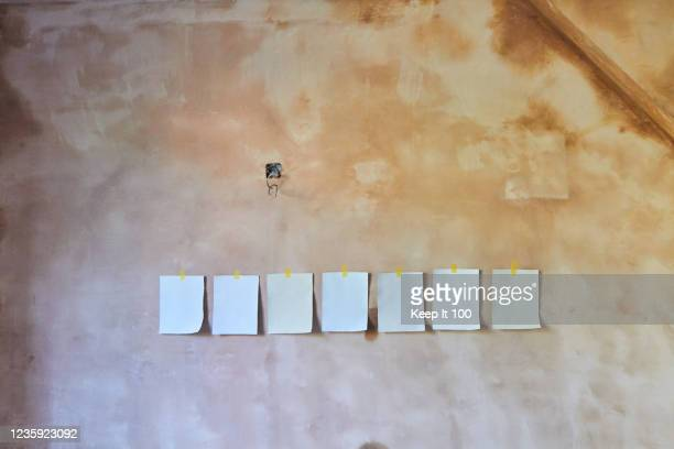 wall paint colour samples - renovation stock pictures, royalty-free photos & images