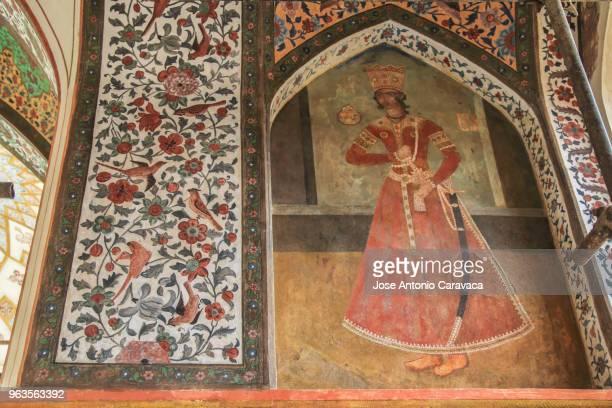 wall painted - isfahan stock-fotos und bilder
