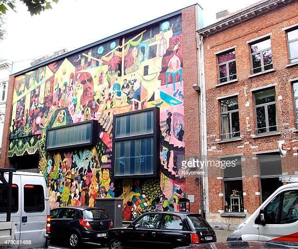 Wall painting, Antwerp, Belgium
