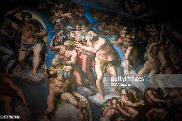 Wall painting art seen at the Chapel The Replica of the Sistine Chapel An replica exact and actual size of the building located on the right side of...