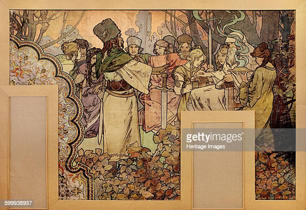 Wall painting for the Exposition Universelle of 1900 18991900 Private Collection Artist Mucha Alfons Marie