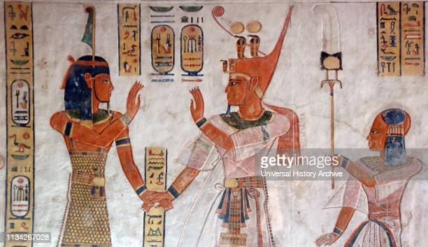 Wall painting in the tomb of Prince Khaemweset . Fourth son of Ramesses II, who was born c. 1303 BCE. Died July or August 1213 BCE. Reigned 1279-1213...