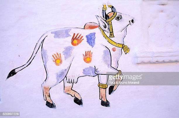 Wall painting of a cow