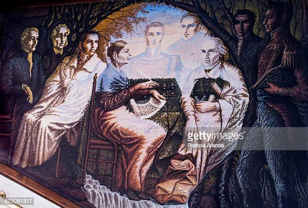 CONTENT] A wall painting of Miguel Hidalgo one of the greatest heroes of the independence of Mexico It is a mural painted by Octavio Ocampo a mexican...