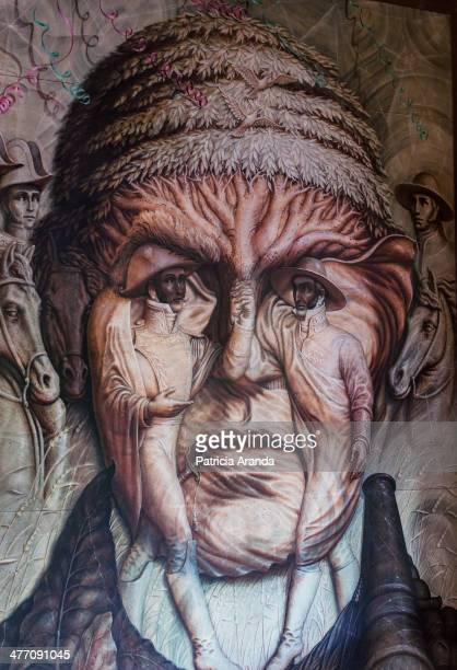 CONTENT] A wall painting of Morelos one of the greatest heroes of the independence of Mexico It is a mural painted by Octavio Ocampo a mexican...