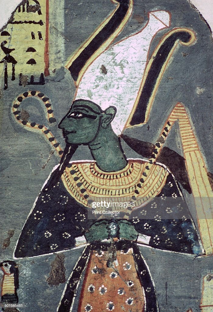 Wall painting of Osiris Khenti-Amentiu, from a tomb at Thebes. : News Photo