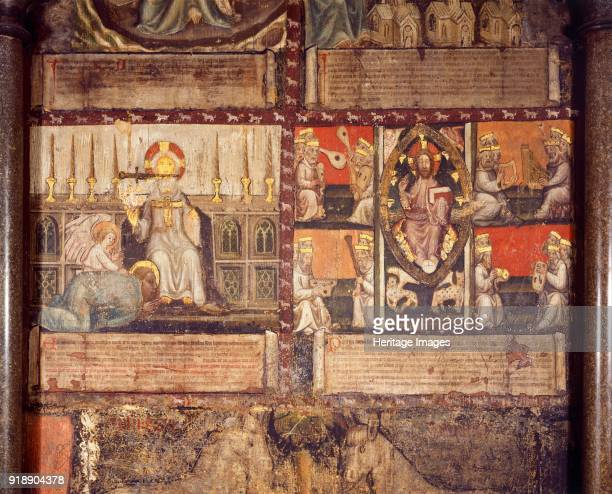 Wall painting of the apocalypse of St John Chapter House Westminster Abbey London c2009 Artist Unknown