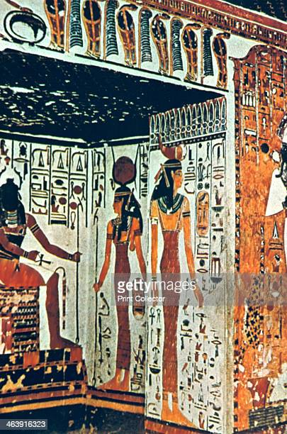 Wall Painting Tomb of Nefertiti Thebes Egypt Nefertiti was the Great Royal Wife of the Egyptian Pharaoh Amenhotep IV