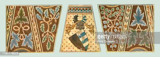 Wall paintings in the Church of St Gieri Rhazuns Grisons Switzerland 'End of 14thBeginning of 15th CenturyThe arms belong to part of the ornament on...