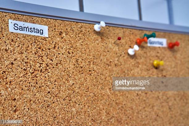 wall - cork material stock photos and pictures
