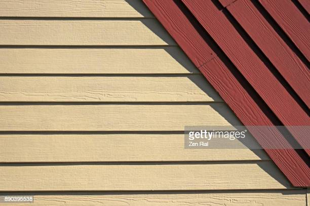wall siding on a building - the slants stock pictures, royalty-free photos & images