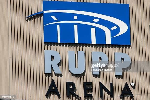 Wall sign at Rupp Arena in Lexington Kentucky
