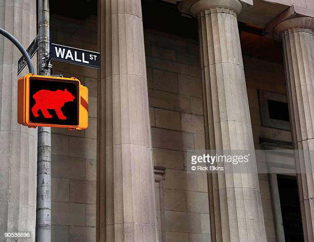 Wall Stree bear sign