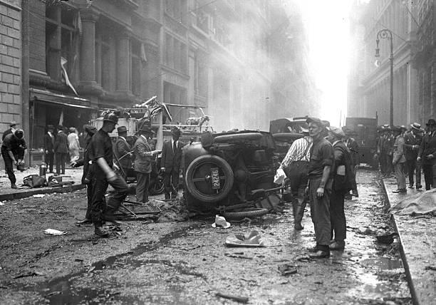 NY: 16th September 1920 - Wall Street Bombing Kills At Least 38