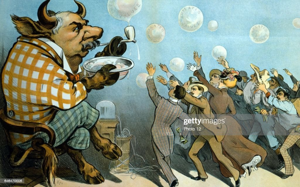 Wall Street bubbles : News Photo