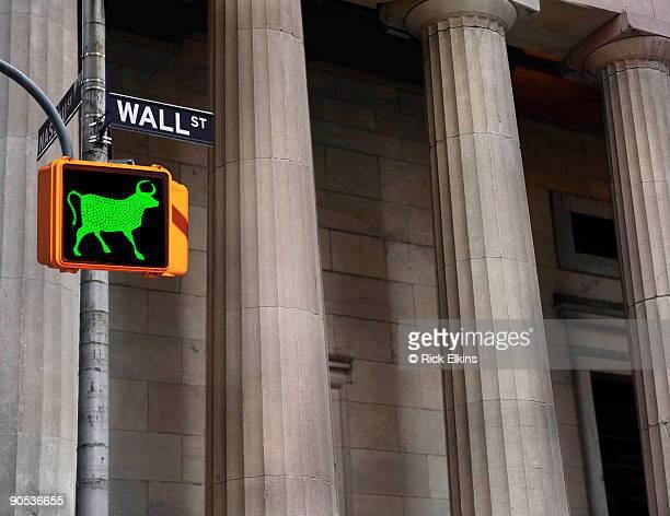 Wall Street bull sign