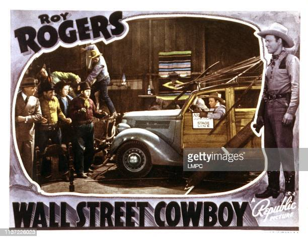 Wall Street Cowboy lobbycard first from left Reginald Barlow first from right Roy Rogers 1939