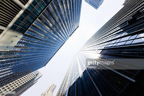 wall street highrise new york city - new york stock exchange stock pictures, royalty-free photos & images