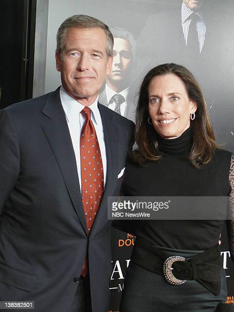 Money Never Sleeps premiere Pictured Brian Williams and wife Jane Stoddard Williams arrive at the premiere of Wall Street Money Neveer Sleeps in New...