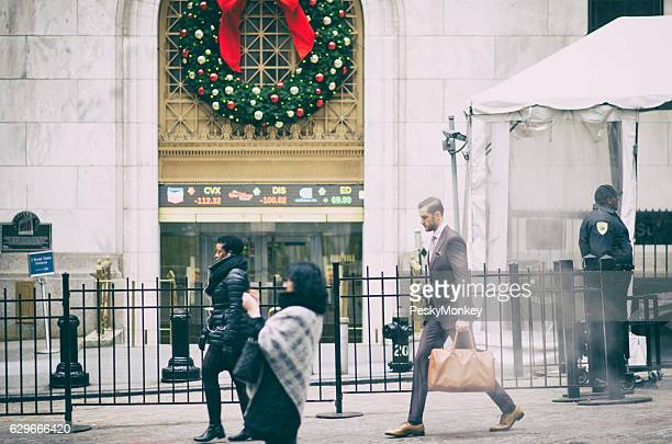 Wall Street New York City Holiday Scene