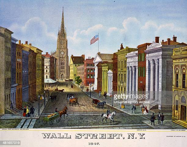 Wall Street NY 18470101 by Isidore Laurent Deroy 17971886 lithographer