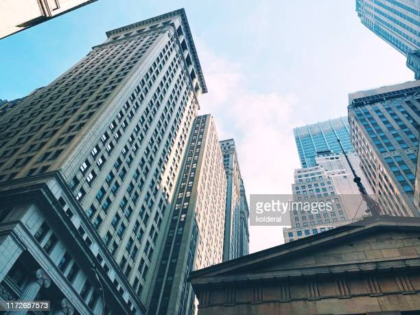 wall street - bank stock pictures, royalty-free photos & images