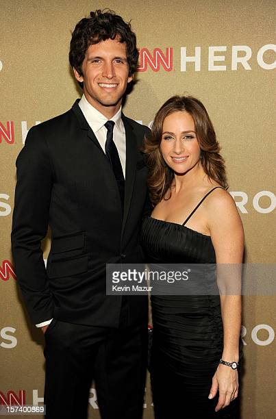 CNN Wall Street reporter Alison Kosik and guest attend the CNN Heroes An All Star Tribute at The Shrine Auditorium on December 2 2012 in Los Angeles...