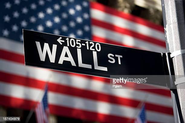 Señal de Wall street en Manhattan