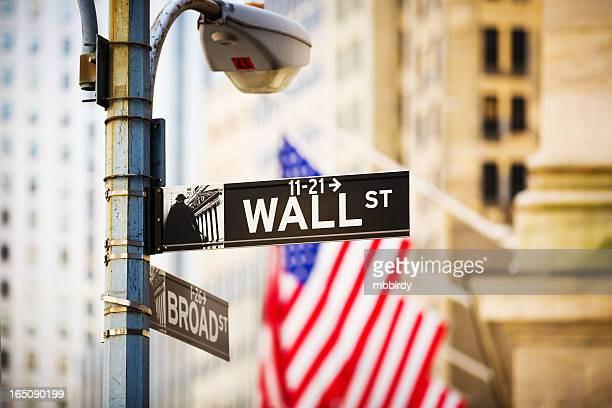 wall street sign, new york city, usa - nyse stock pictures, royalty-free photos & images