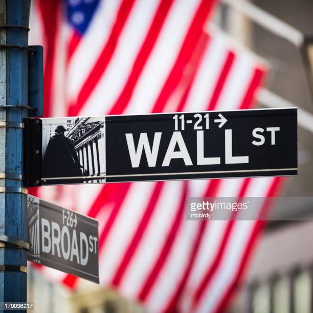Señal de Wall Street, ciudad de Nueva York, Estados Unidos