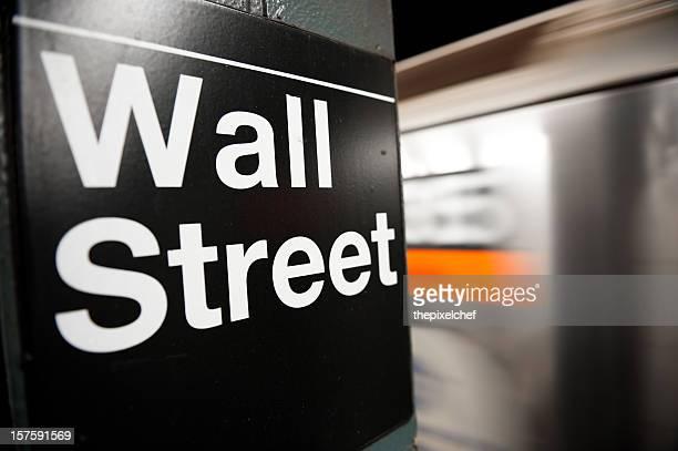 Wall Street Subway Station Sign