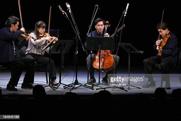 Wall to Wall 12hour Stravinsky Marathon at Symphony Space on Sunday March 18 2006This imageThe Ying Quartet performing Three Pieces for String...